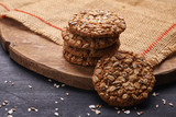 oats cookies and ingredients - 193399843