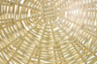 Rattan Basket. Wallpaper texture of a wicker basket with sun rays. Summer holidays concept background. - 193400061
