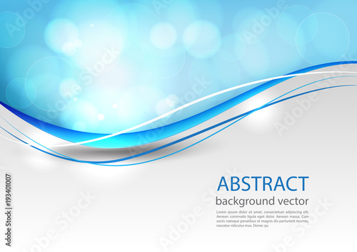 Blue line abstract background. Vector illustration. - 193401007