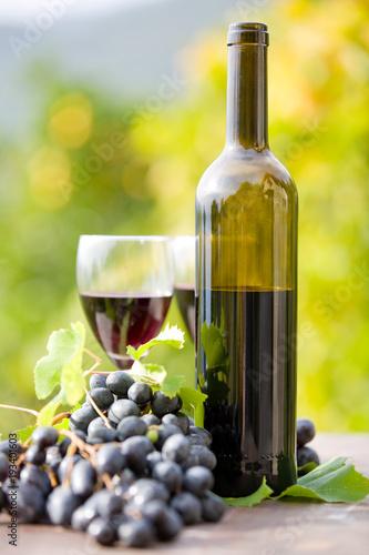 Fototapeta Red wine