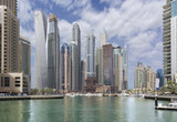 Dubai - The skyscrapers of Marina and the yachts - 193404429