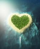 vertical heart shaped island - 193410064