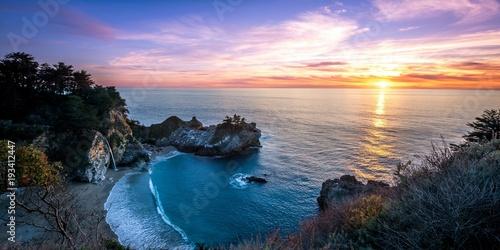 Foto op Aluminium Zee zonsondergang nature