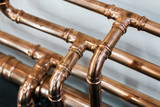 copper pipes and fittings for carrying out plumbing work. - 193419643
