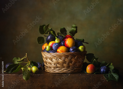 still-life-with-nectarines-and-plums