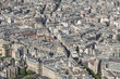 Beautiful panoramic view of Paris from the Eiffel Tower