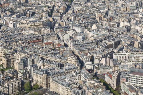 Wall mural Beautiful panoramic view of Paris from the Eiffel Tower