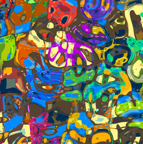 Mashed Up Abstract Paper Background