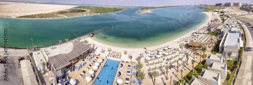 Fotobehang Abu Dhabi Panoramic view of Yas Island Beach, UAE