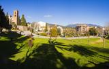 Sant Pere de Vilamajor, pueblo del Montseny en Barcelona, vistas panorámicas - 193449495
