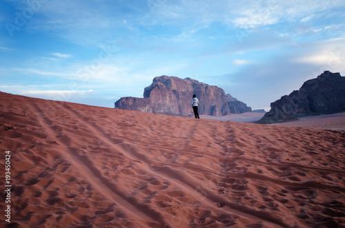 Jordan national park Wadi Rum desert Poster