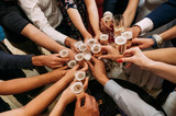 friends champagne celebrate party - 193453227