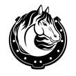Horse and horseshoe.