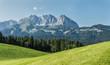 Leinwanddruck Bild - Wilder Kaiser im Sommer