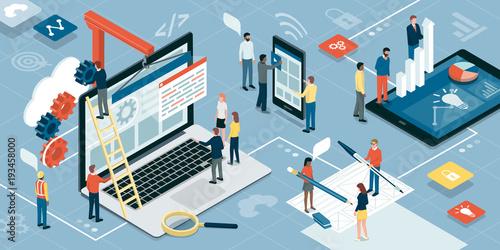 Web development, graphic design and marketing