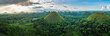 Chocolate Hills in Bohol island, Philippines during the sunrise - 193460485