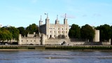 the infamous tower of london from across the river thames in london, england - 193460468