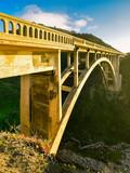 Rocky Creek Bridge spanning Hwy 1 - Big Sur, California - 193471653