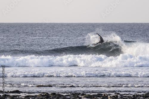 Poster Canarische Eilanden Surfing in Ferteventura, Canary Islands