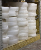 heat insulation a lot of rolls are stored in stock - 193476869