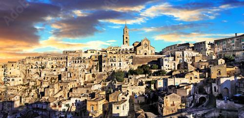 Plexiglas Freesurf Landmarks of Italy - ancient city Matera. Basilicata