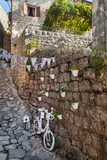 Stone streets of the old town in Montenegro