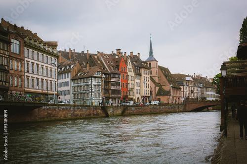 Deurstickers Brugge Streets of strasbourg travel europe walking in oldtown