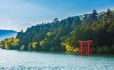 Mount Fuji from lake Ashinoko, Hakone, Japan
