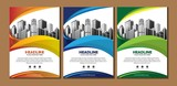 design cover book brochure flyer layout annual report business template - 193509640