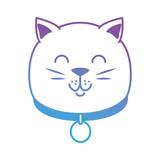 cute cat head mascot vector illustration design - 193516297