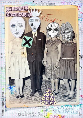 Plexiglas Imagination Ghost and weird. Mysterious,macabre and esoteric collage series.