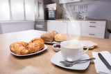 Close-up Of Croissants And Cup Of Coffee - 193520048