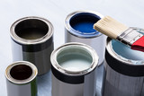Paint Can With Paintbrush - 193523093