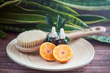 Аnti-cellulite, organic, bio, natural cosmetics. Remedy for cellulite massage, spa. Natural oils and massage brush