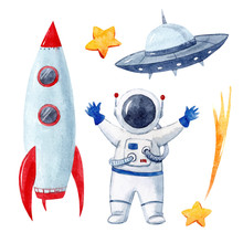 Watercolor Baby Space  Set Sticker