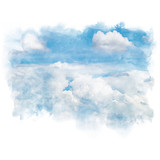 Blue sky with white cloud. - 193534240