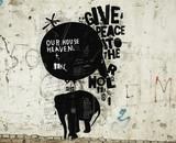 Слон и воздушный шар на стене - 193538630