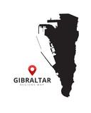 Gibraltar map region - 193539071