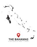 The Bahamas map - 193539482