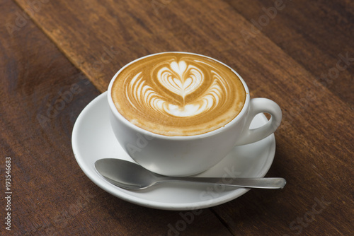 Fototapeta coffee cup latte art