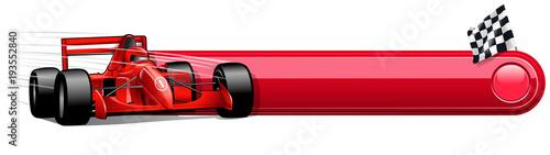Fotobehang F1 blank race car banner