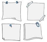 Set mit verschiedenen handgezeichneten Notizzetteln  - 193554202