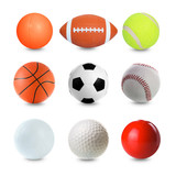 Set of Sports Balls on white background