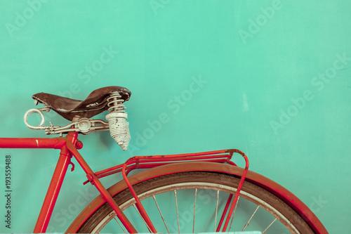 Foto op Canvas Fiets Parts of a vintage bike. Retro bike