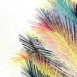 Jungle tropical palm leafs. Vector gradient plants - 193562071