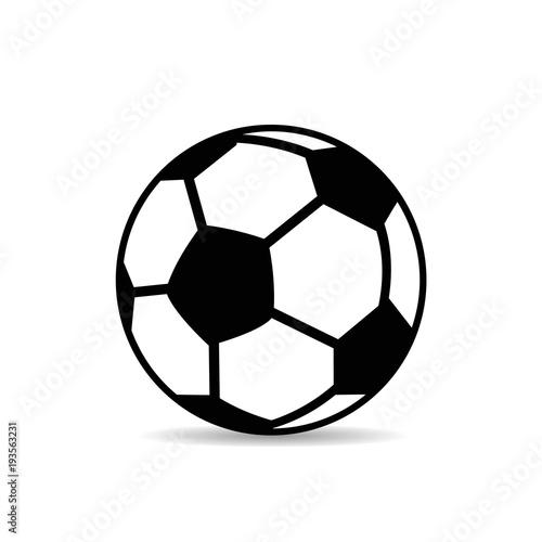 fusball-schwarz-und-weis-nahaufnahme-silhouette-auf-weisem-hintergrund