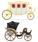 Carriage For Transportation Of People  Illustration Wall Sticker