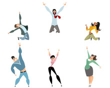 Six Joyful Characters Sticker