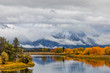 Teton Autumn Reflection at Oxbow Bend