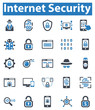 Internet Security Icon Set - 2 (Blue Series)